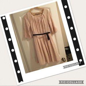 Eva Franco Anthropologie 3/4 Sleeve Pinup Dress 10